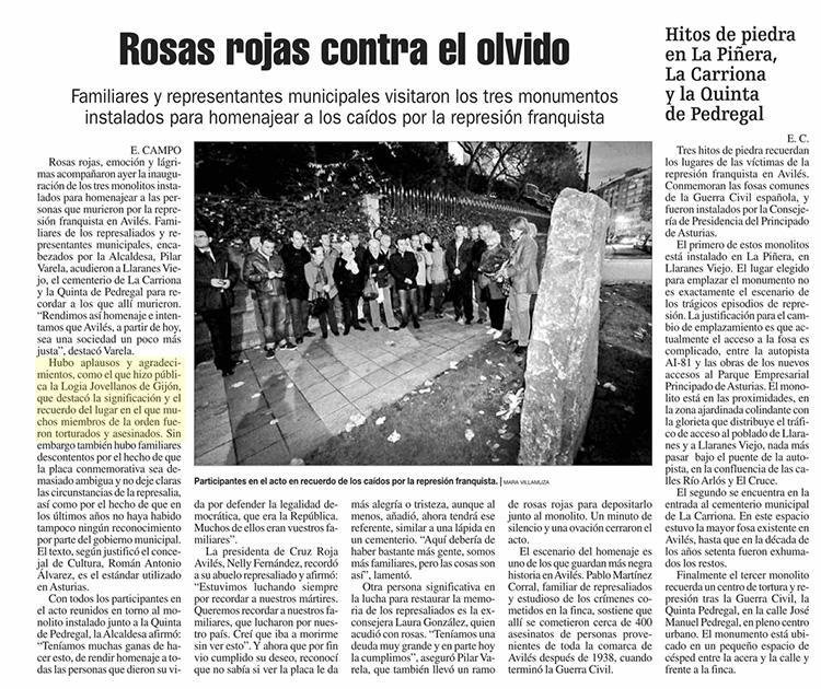 La Nueva España – 13 de diciembre 2014