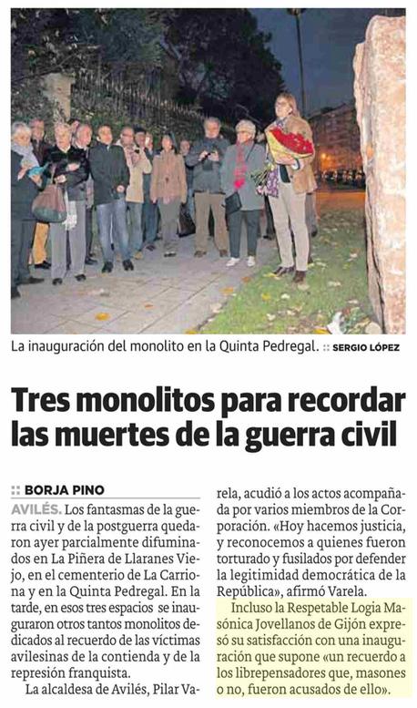 La Voz de Avilés – 13 de diciembre 2014