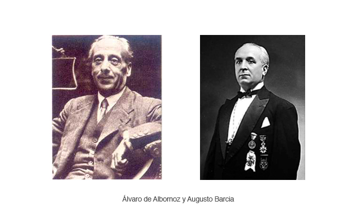 Álvaro de Albornoz y Augusto Barcia