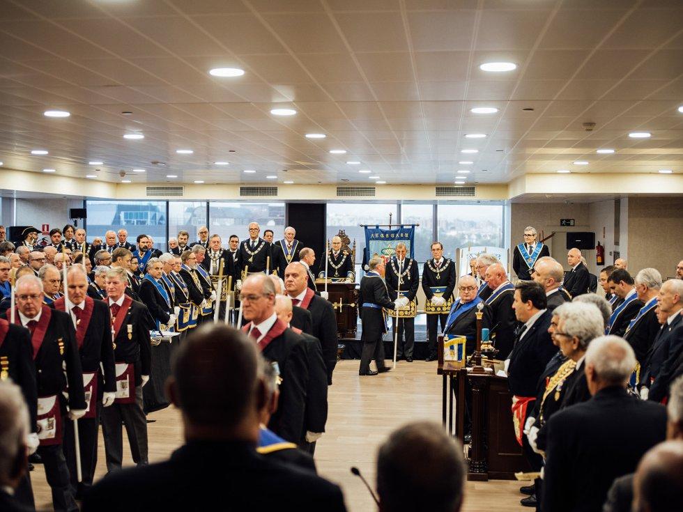 Asamblea de la Gran Logia de España en Madrid. Foto: James Rajotte